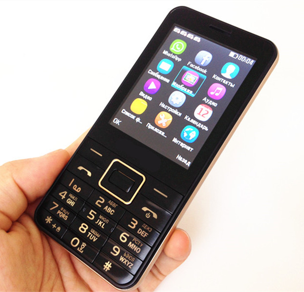 4 Sim Cards Standby Mobile Phone C8 2 8 Big Screen Outside FM Radio Cheap