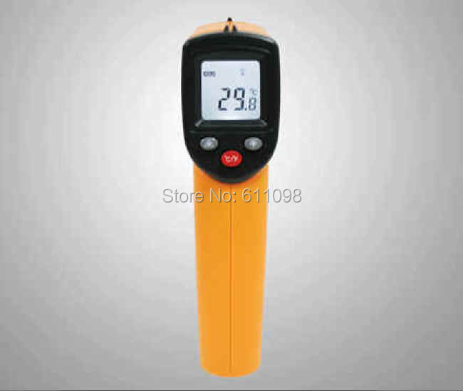 10pcs Nice free shipping, Non-Contact LCD IR Laser Infrared Digital Temperature Thermometer Gun GM320 with retail pacakge(China (Mainland))
