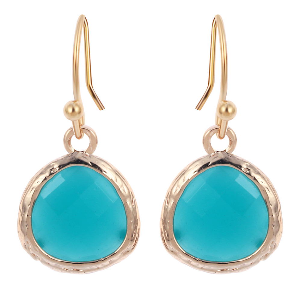 Elegant  Gold Plated Designer Drop Earrings For Women Jewelry 2016 He1 He Y Old