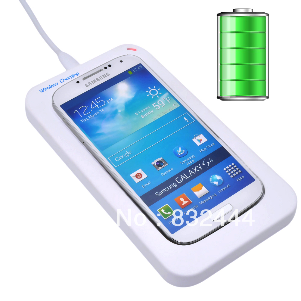 Qi Portable Wireless Charger Charging Pad + Receiver Kit Samsung Galaxy S4 S IV i9500 Transmitter - AliFamily store