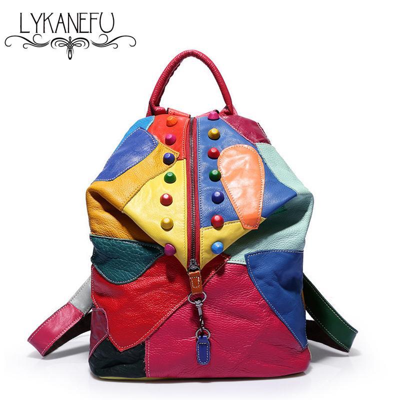 100% Guaranteed Genuine Leather Backpack Women Bags Cowhide Leather Bag Mochila Feminina School Backpacks Preppy Style<br><br>Aliexpress