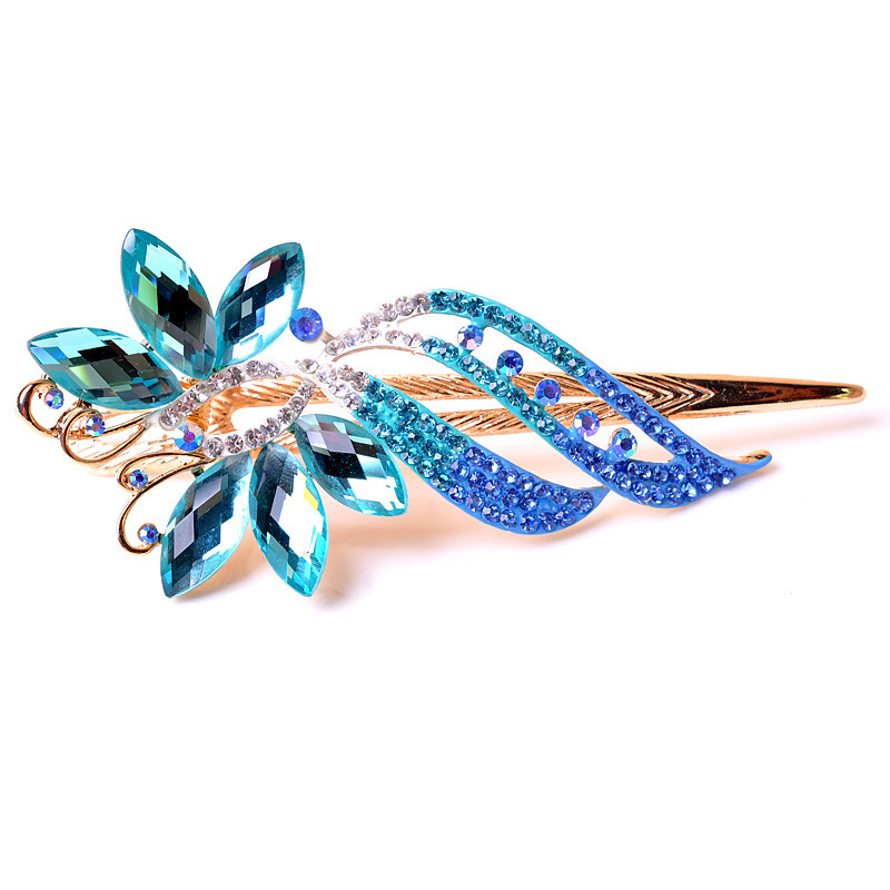 Top Quality Butterfly hairclips Fashion Rhinestones hairgrips Gold plated hair jewelry wholesale 4311(China (Mainland))