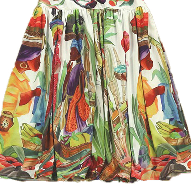High Quality Newest Fashion Runway Maxi Dress Women's Long Sleeve Retro Art Printed Long Dress