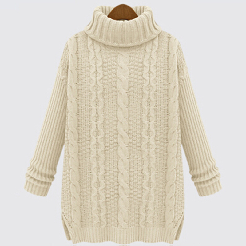 New Arrival Turtleneck Cashmere Sweater Women Sweaters And Pullovers Twisted Cute Pull Long sleeve Sweater Knitted Ropa Mujer