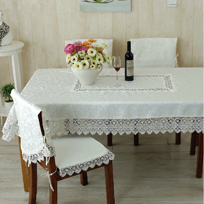 Fashion quality embroidery laciness dining table cloth chair covers cushion set tablecloth sofa fabric lace gremial t80998-1(China (Mainland))
