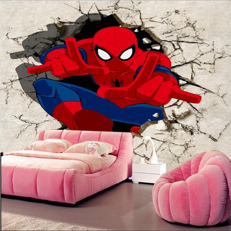 online get cheap spiderman schlafzimmer tapete aliexpress. Black Bedroom Furniture Sets. Home Design Ideas