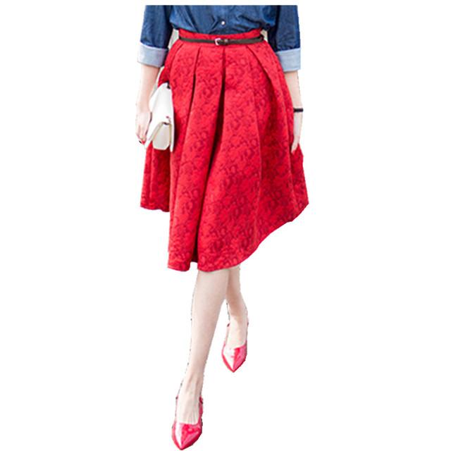 Новый Faldas 2016 Летний Стиль Винтаж Юбка Высокой Талией Рабочая Одежда Midi Юбки Женская Мода American Apparel Saias Юп Роковой