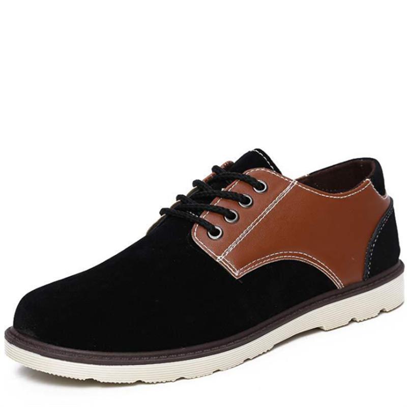 Fashion Mens Shoes 2015 New Arrival Mens Casual Shoes Autumn Faux PU Leather Lace Up Black. 50