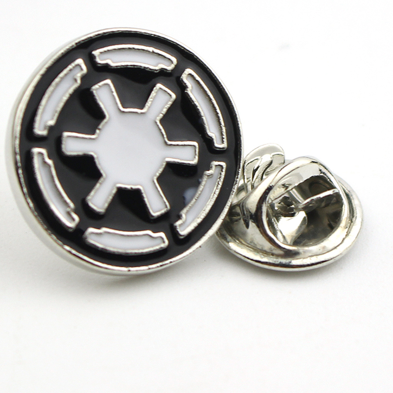 Movie Jewelry Star Wars Silver Plated Enamel Galactic Empire Logo Brooches Pins Cheap Wholesale Vintage Women Men Brooch Pins(China (Mainland))