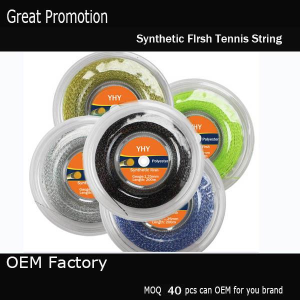 200M Hexagonal  tennis string 1.35mm brand tennis string/co-polyester  tennis string