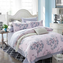 Fashion sweet flowers bedding set 4pcs 100%cotton duvet cover set bedsheet pillowcase bed quilt bedclothes cover for queen size(China (Mainland))