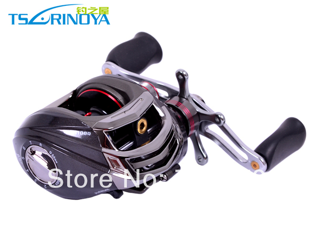 Trulinoya DW1000 Left  Hand Baitcasting Fishing Reel  10+1BB  Black Color