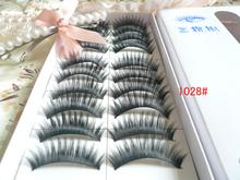 10 Pairs Thick Long False Eyelash Eyelashes Eye Lash Voluminous Makeup 1028#(China (Mainland))