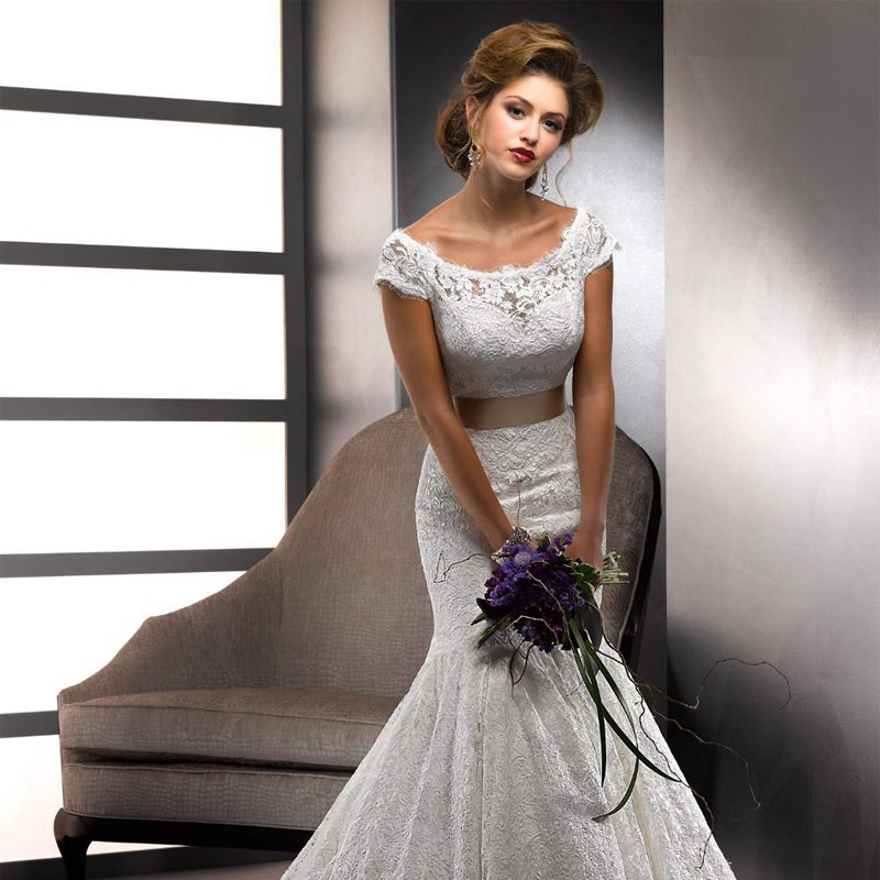 Vestido de noiva 2015 best selling lace mermaid wedding for Best selling wedding dresses
