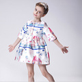 Lolita Style Girls Dress High Quality Children Clothing Spring Autumn Print Kids Dresses For Girls Fashion