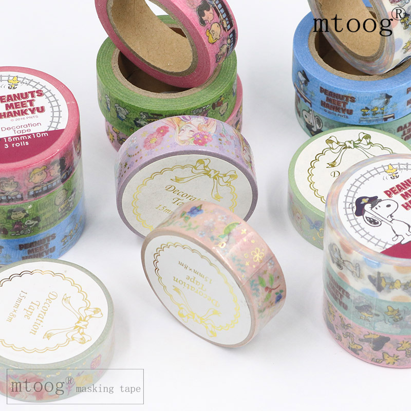 10 pcs/lot DIY Japanese Paper Decorative Adhesive Tape Cartoon Mermaid scald Washi Tape/Masking Tape Stickers Size 15mm*8m