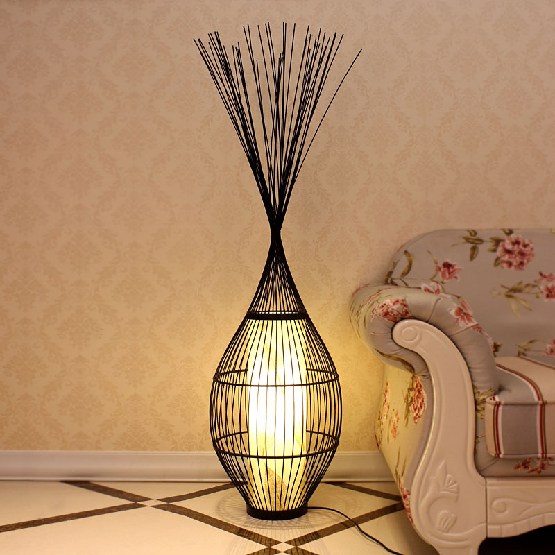 floor lamp lighting lamps bedroom den decorative bamboo bird cage 0045