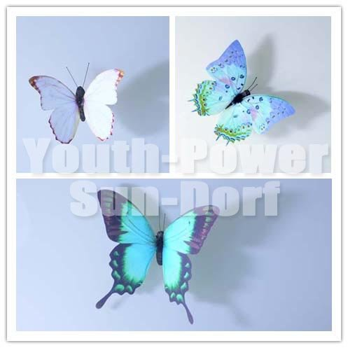 12pcs 3d wall sticker butterfly home decor art decorations for Outdoor butterfly decor