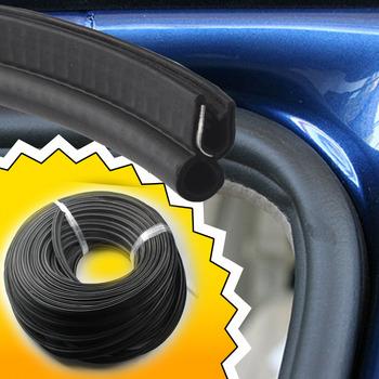 3M 120inch Black Rubber Seal Strip Flexible Body OEM Door Edge Trim Weatherstrip Seal Fit For Universal Car Motor Door #06