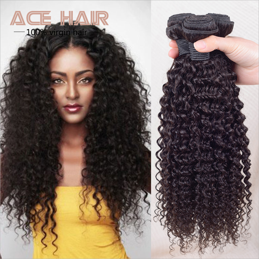 Brazilian Kinky Curly Virgin Hair Queen Hair Products 3pcs,Brazilian Curly Virgin Hair Human Hair Extensions Weave Bundles(China (Mainland))