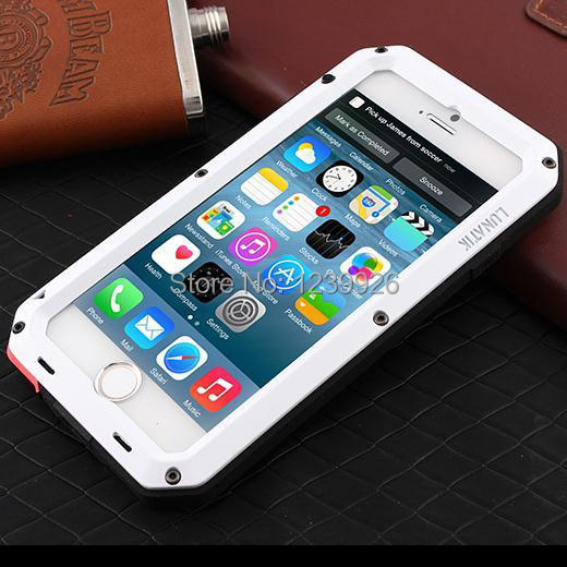 Extreme Waterproof Dropproof Dirtproof Shockproof Aluminum Case iPhone 6S Metal Cover Gorilla Glass Retail Packaging - lala Trading Co., Ltd store