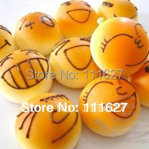 20pieces/lot Free Shipping, New Squishy Buns Bread Key Charms, Squishies Key Rings Cell Phone Straps, Mixed  Key Rings