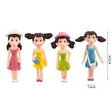 Hot 4Pcs/Set Fairy Garden Figurines Miniature Hayao Miyazaki Angel Girls Resin Crafts Ornament Gnomes Moss Terrariums Decoration(China)