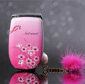 Unlocked Luxury Flip Lady Mobile Phone A1 Beautiful LED Light GSM Mini Girl Cell Phone Woman