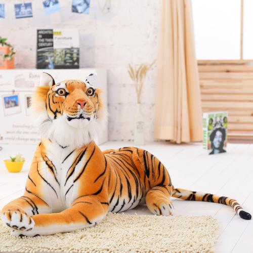 2016 new lovely style yellow tiger plush toys Tiny Tots Room Decor animals stuffed cloth doll kids toys Imitate Toys(China (Mainland))