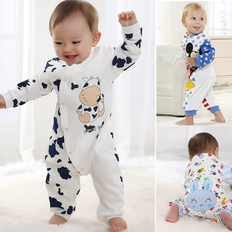 New Baby Clothes Children Pajamas Newborn Branded Baby Rompers Infant Cotton Long Sleeve Jumpsuits Boys Girls Spring Autumn Wear(China (Mainland))