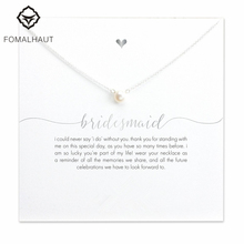 Buy FOMALHAUT bridesmaid small imitation pearl 45cm Pendant Necklaces Clavicle Chains necklace Fashion Women Jewelry for $1.11 in AliExpress store