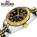 BINGER genuine gold automatic mechanical watches female form women dress fashion casual brand luxury wristwatch Original