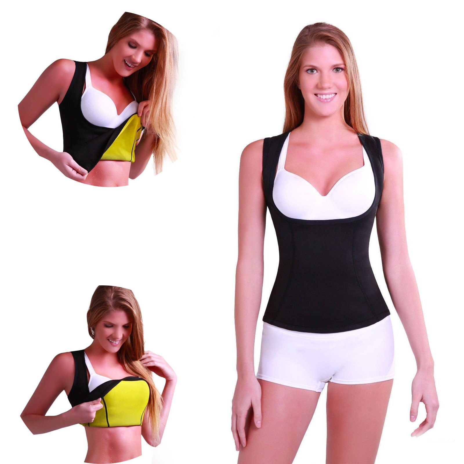 1PC Size S-XL Woman Lady Redu Waist Bust Shaper Shirt Neoprene Slimming Thermo Cami Cinchers