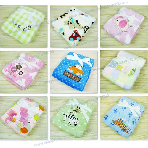 76*102cm super soft the plush coral blanket bedding blankets thickening baby linen  Animal prints Warm Blanket