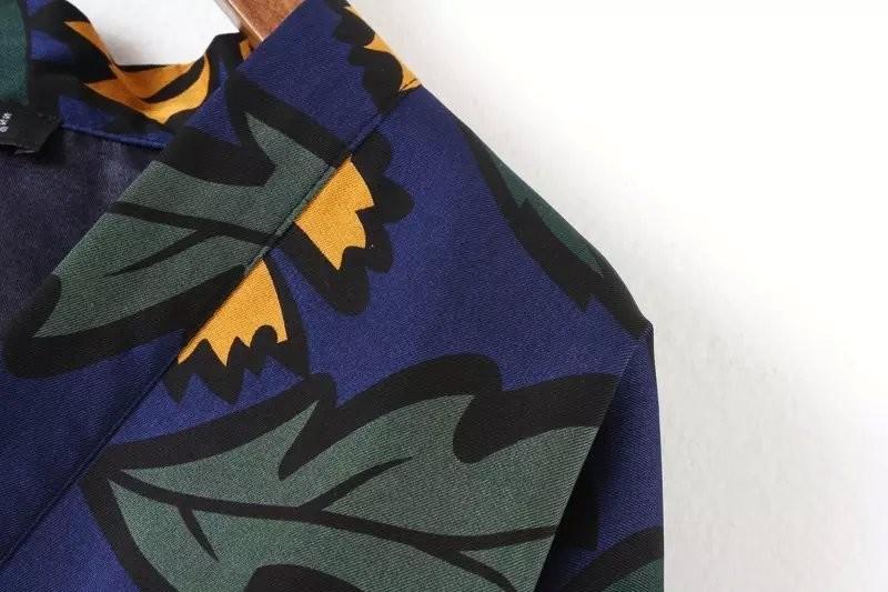 Be32 осень европейский винтажный цветочный принт кимоно женщина свободного покроя без тары бита рукав куртка