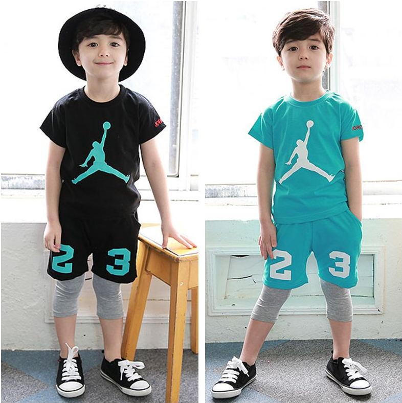 Buy Summer Jordan Children Sport Suit Cotton Boys Clothing