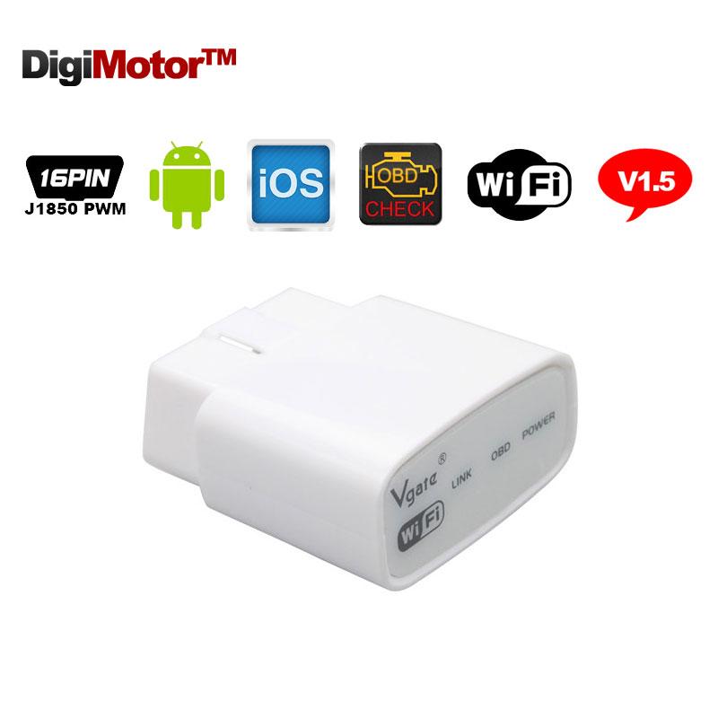 Original Vgate iCar Wifi ELM327 OBD 2 ELM 327 OBD2 V1.5 Car Fault Code Reader Scanner Automotive For iPhone Android PC(China (Mainland))