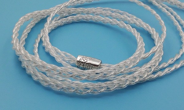 Soft handmade 6n single crystal silver plated 8-wire braid 112 core se215 se535 earphone upgrade cable