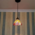 7 corridor Simple Art Pendant Lights Leaves retro pattern Handmade Multicolored Glass Tiffany LAMP Corridor ceiling