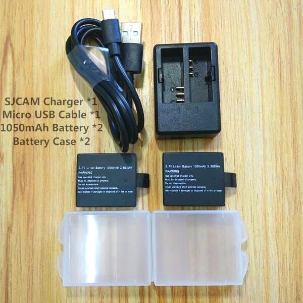 New SJCAM Sj4000 1050mAh battery charger for SJCAM Original sj4000 wifi Sj5000 M10 SJ7000 soocoo c30 Sports Camera Accessories