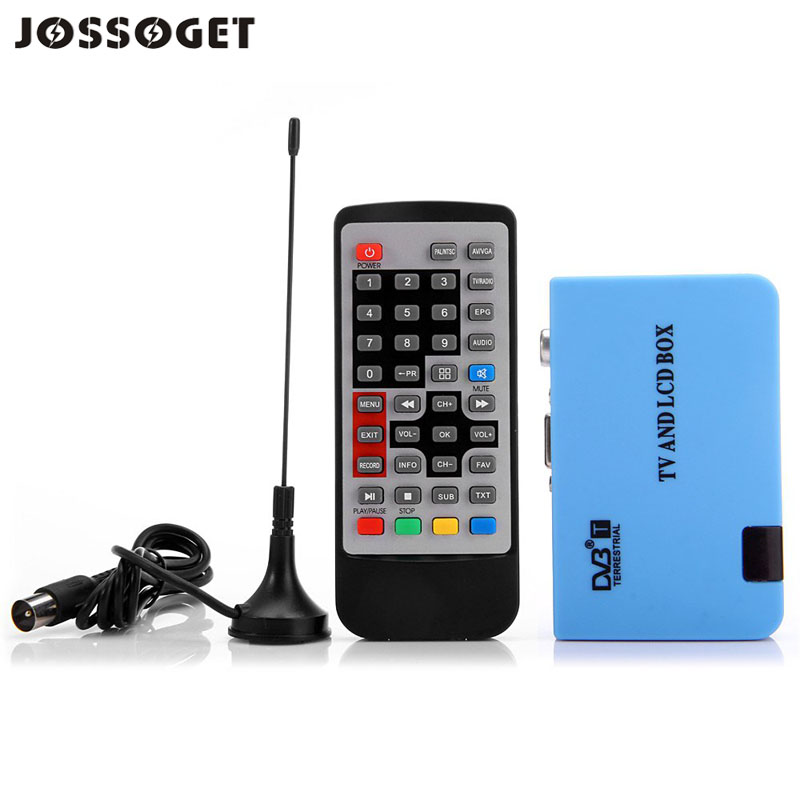 JOSSOGET TV Stick Stand-alone VGA DVB-T LCD TV Receiver Recorder with Remote Controller 100 - 240V Receive PDTV SDTV Signal(China (Mainland))