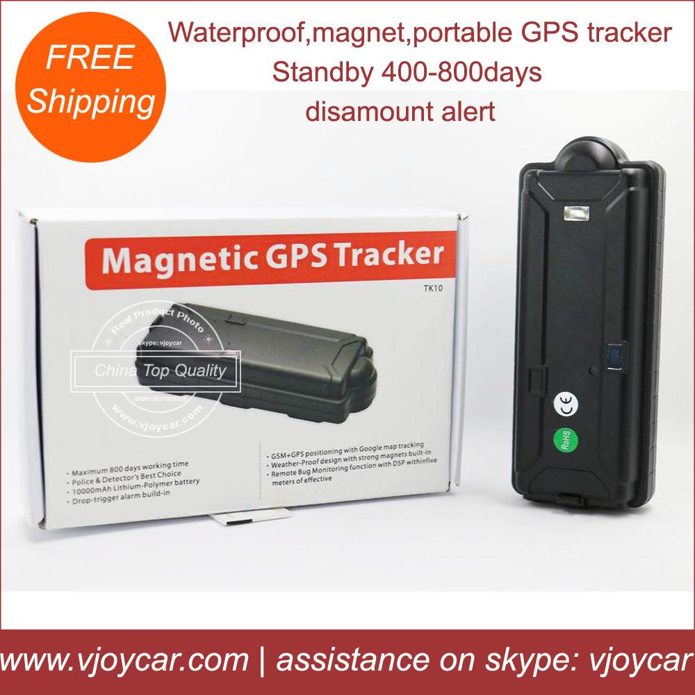 10000mAh big battery power bank waterproof magnetic gps tracker for assets,cargo,train & vehicles!(China (Mainland))