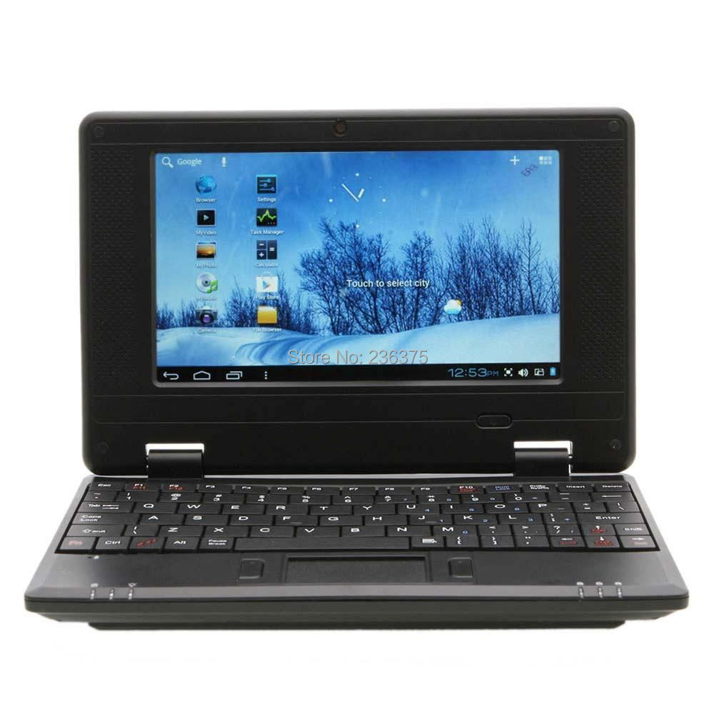 "New 7"" VIA8850 512MB / 4GB Android 4.1 or Windows CE Notebook Mini Netbook 1.5GHZ Wifi HDMI RJ45 Black(China (Mainland))"