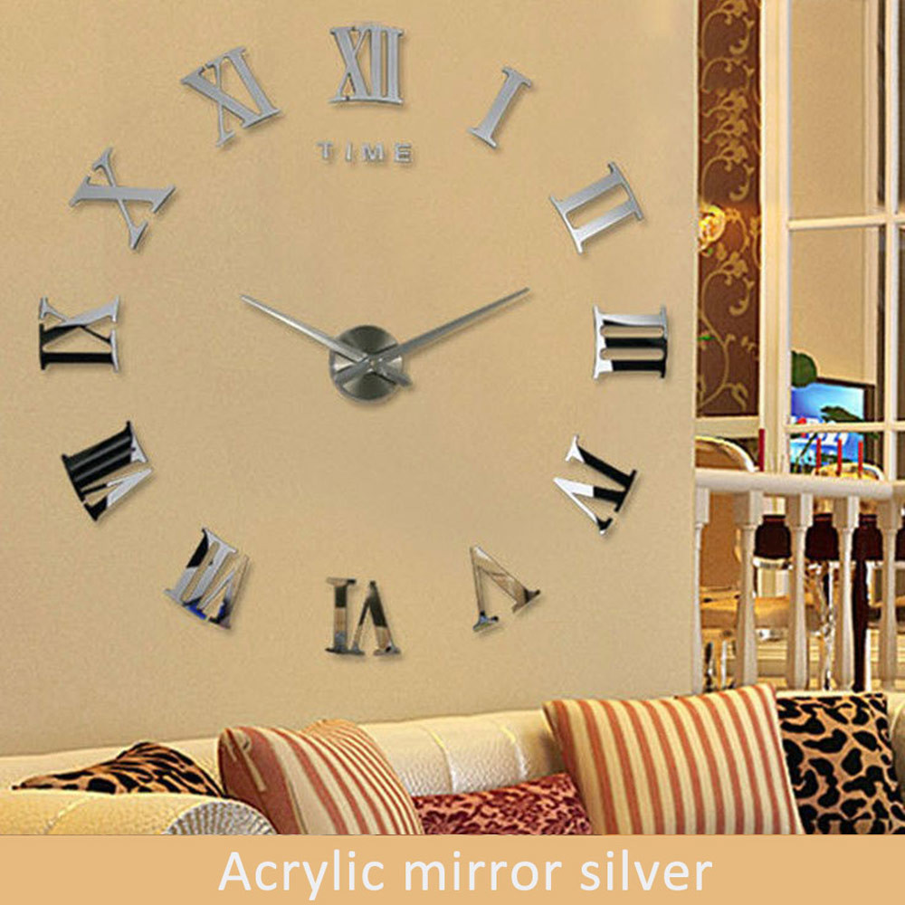 Wholesale Wall Clock Large Decorative Wall Clock Modern Design 3d ...