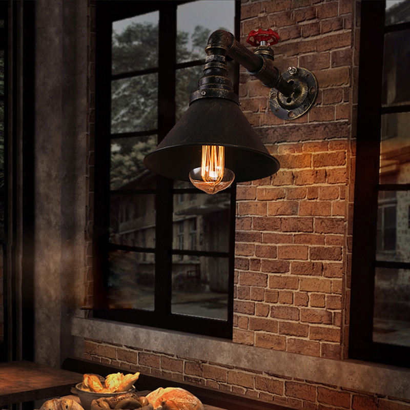 wall lamp vintage industrial retro lampara de pared Mirror Bathroom cafe bar Lights iron Sconces Indoor decoration Lighting(China (Mainland))