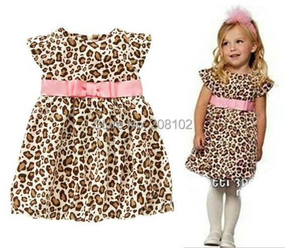 2014 New Retail Fashion summer baby girl's leopard print short-sleeve dress cute Children's dresses Kids Princess Party - Anime Cosplay Bikini Store store