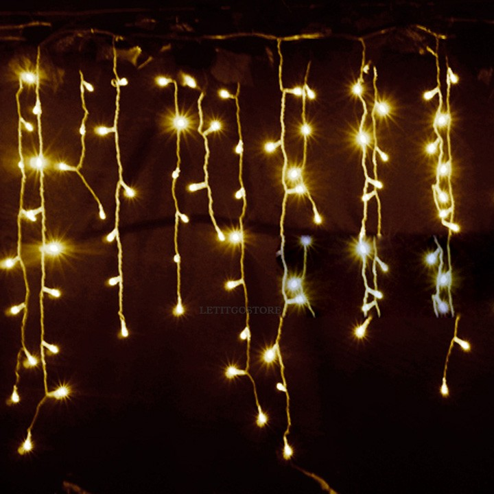Amazing 3.5m Droop 0.3-0.5m curtain icicle led string lights 220V New year christmas Lights Garden Xmas Wedding Party 34(China (Mainland))