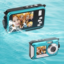 2016 Newest 2.7inch TFT Digital Camera Waterproof 24MP MAX 1080P Double Screen 16x Digital Zoom Camcorder(China (Mainland))