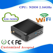 2015 New Fanless PC Mini PC Celeron Mini pc win8.1 X30-N2830  2.16GHz Dual Thread support linux / win 7 / win8 with Vesa Mount(China (Mainland))