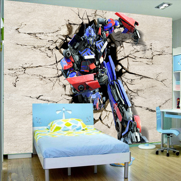 customize 3d transformers mural wallpaper home decor photo online get cheap transformers wall murals aliexpress com